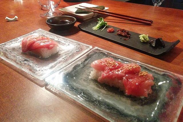 Sushi de toro listo para hacer