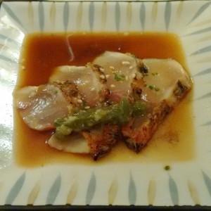 Carpaccio de salmonetes